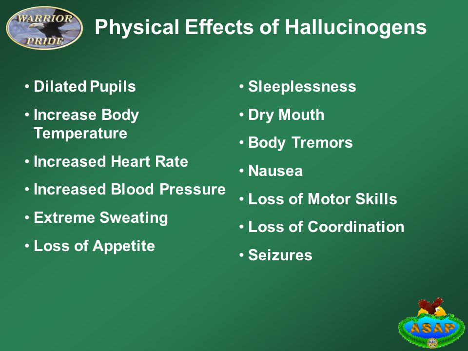 a description of the effect of hallucinogens in drugs Biology 202 1998 first web reports on serendip the effects of hallucinogenic drugs on the brain alicia ebbitt hallucinnogenic drugs alter a person's perceptions of reality and may cause hallucinations and other alterations of the senses.