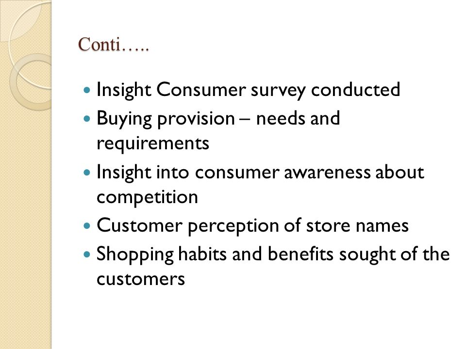 Insight Consumer survey conducted