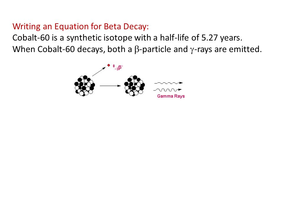 What is the beta decay equations?