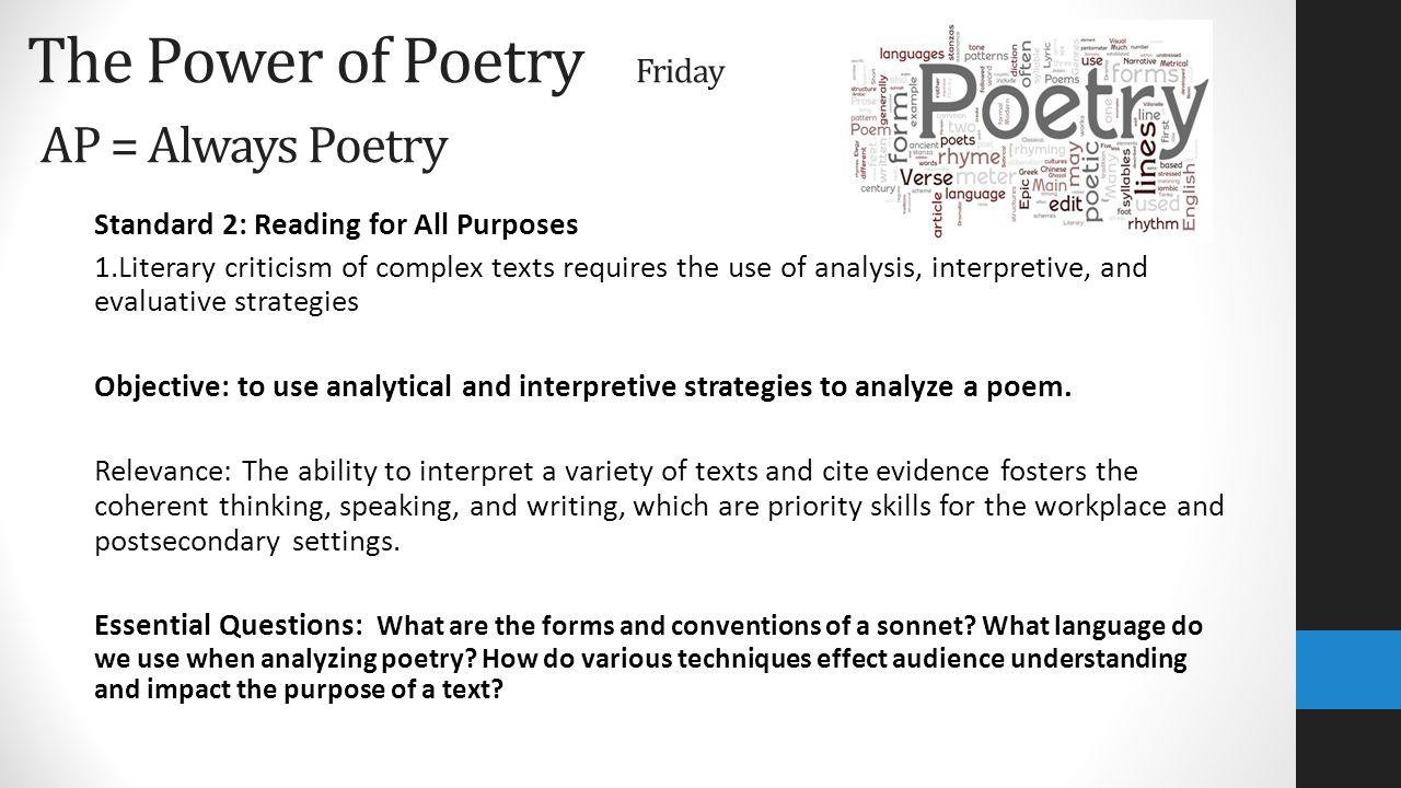 Interpretive essay poem