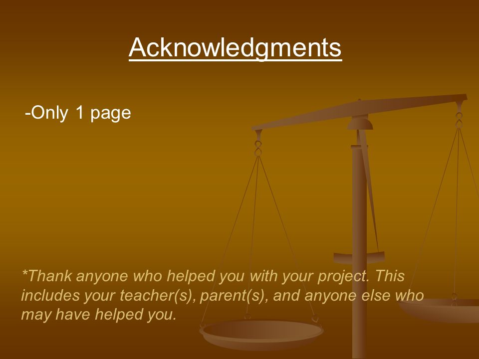 Acknowledgments -Only 1 page