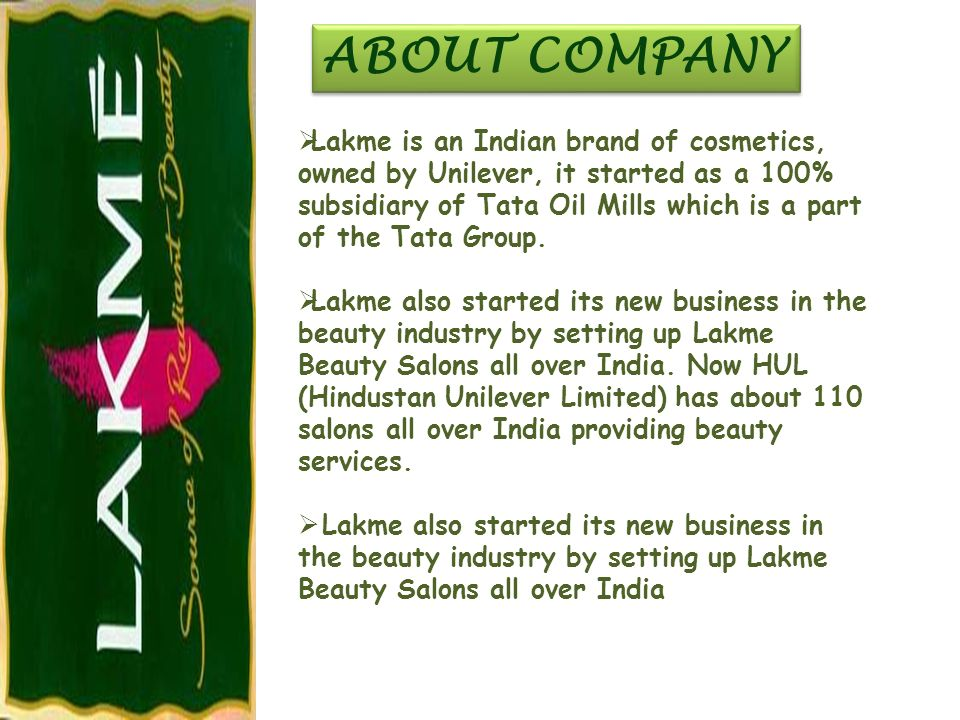 lakme branding strategies Deviating from the traditional mode of advertising, lakme lever, part of the hindustan unilever ltd (hul) has opted for a different strategy to market its new launch.