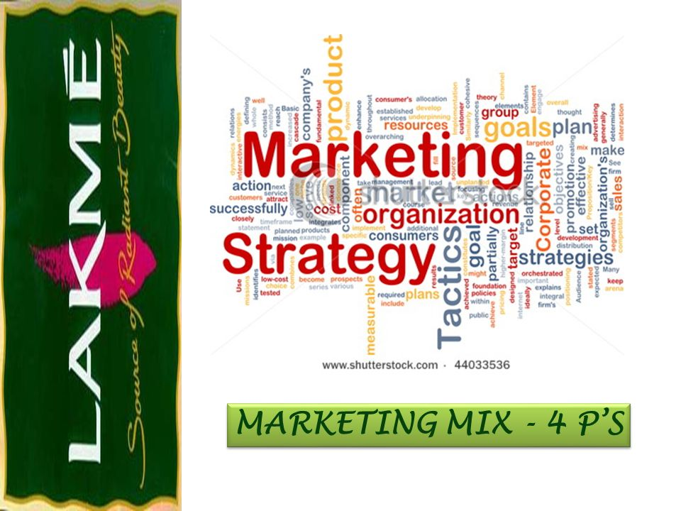 MARKETING MIX - 4 P'S