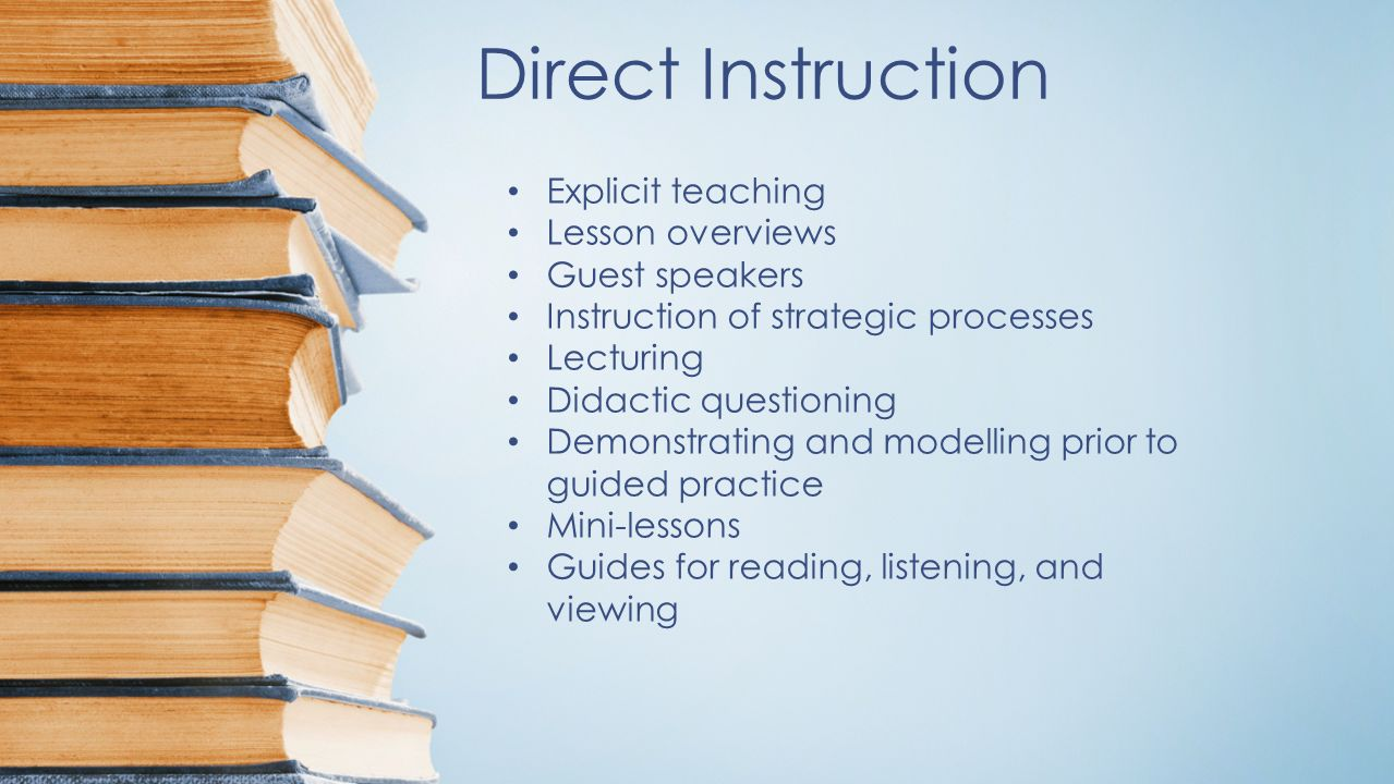 Direct Instruction Worksheets : Five main teaching strategies direct instruction highly