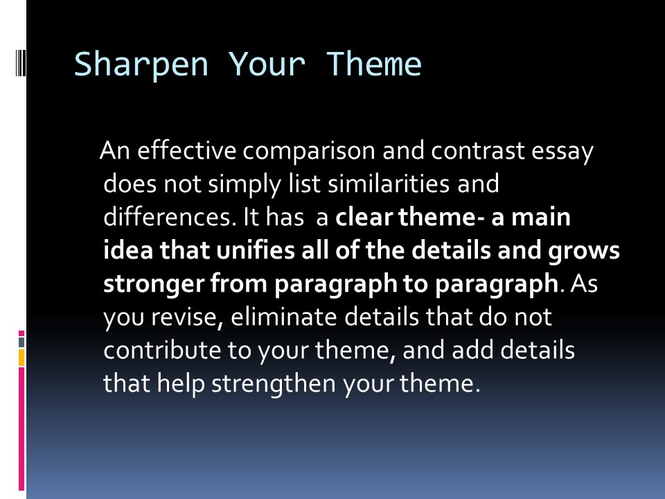 comparing themes essay We provide excellent essay writing service 24/7 enjoy proficient essay writing and custom writing services provided by professional academic writers.