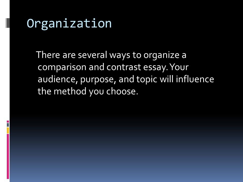 comparison and contrast ppt  organization