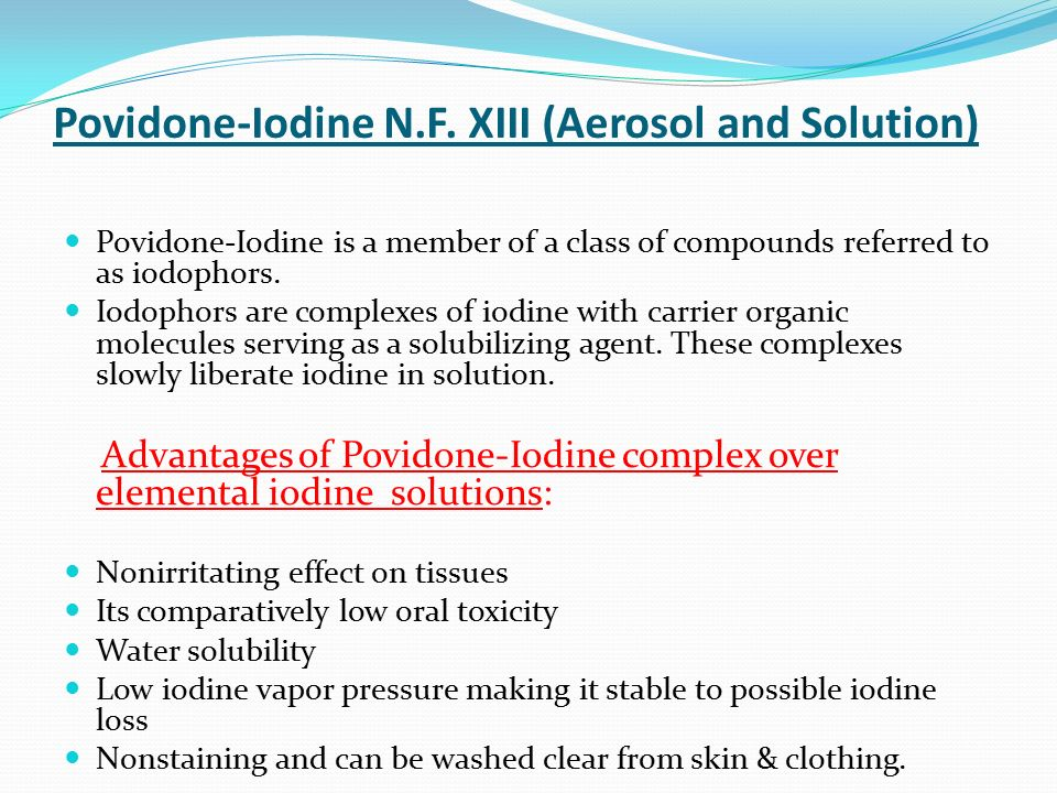 effect of iodine on dental waterlines Test teeth were all treated with 2% iodine disclosing/disinfecting solution (i2dds)   dental unite waterline antimicrobial agents' effect on dentin bond strength.