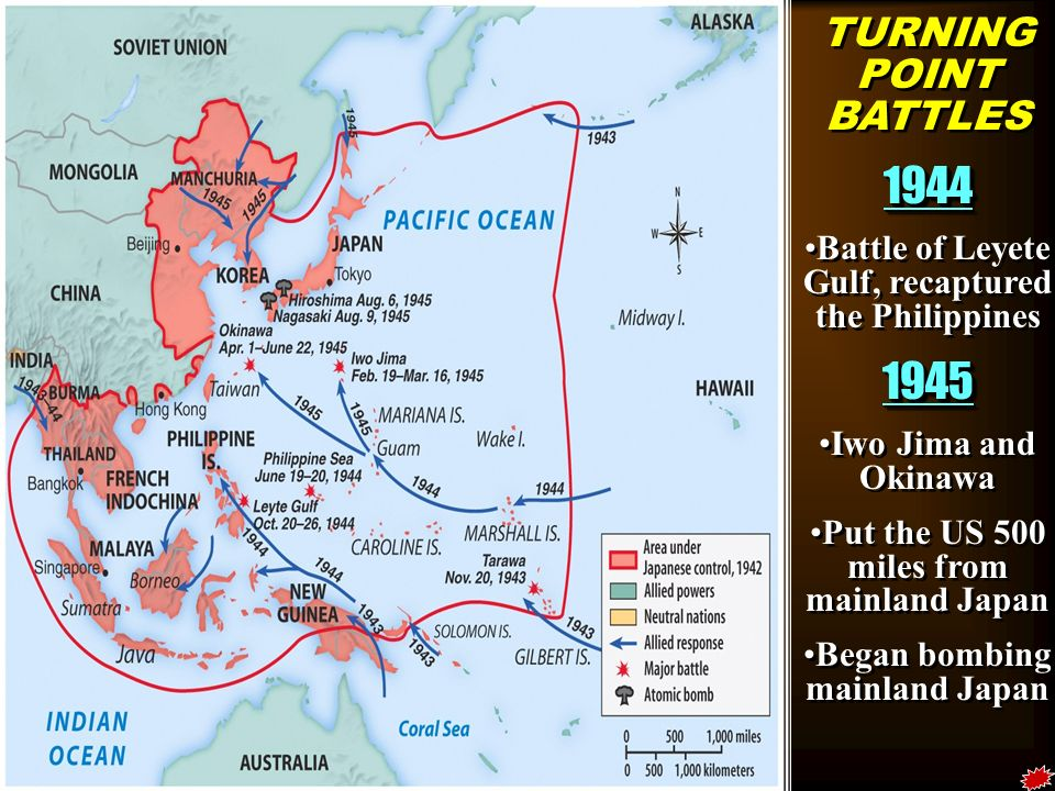 WWII IN ASIA Japanese Aggression And US Strategy Ppt Video - Japan map 1945