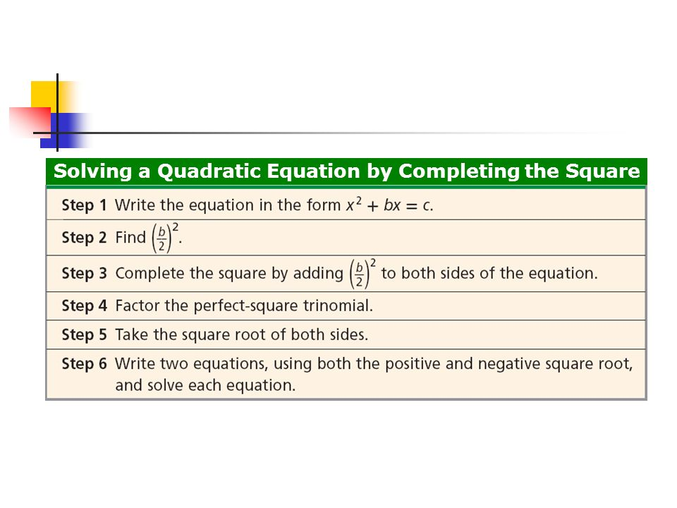 Solve quadratic equations by completing the square ppt download 12 solving a quadratic equation by completing the square ccuart Choice Image