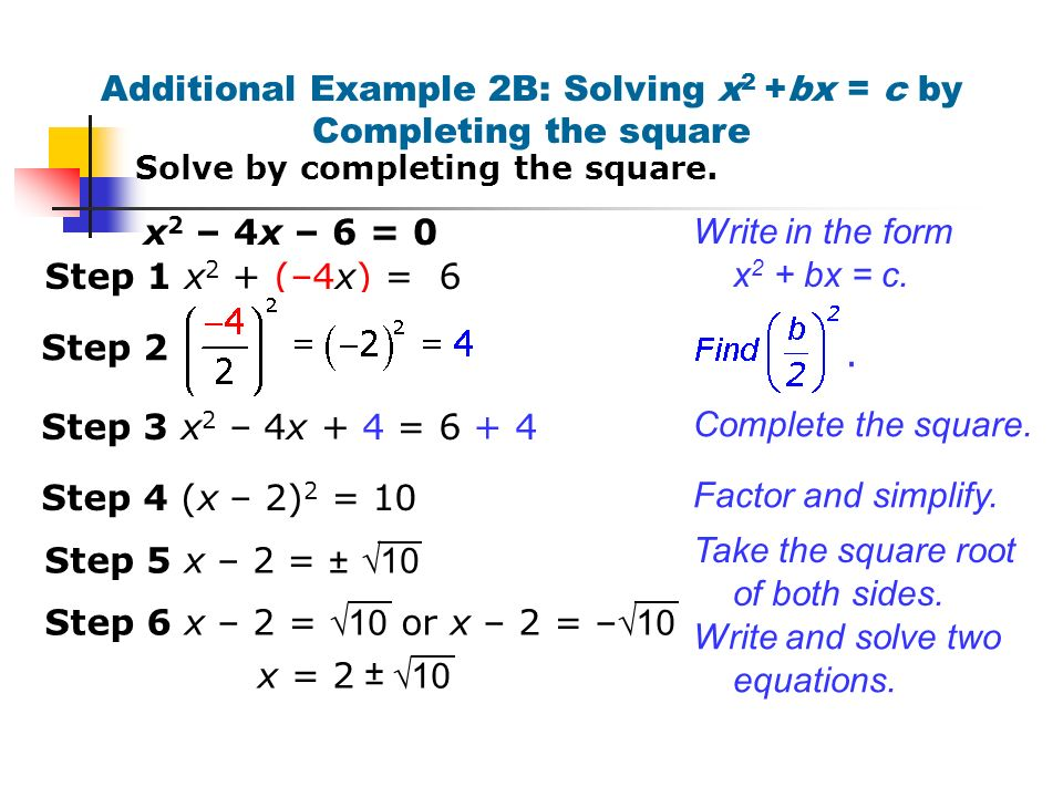 Writing an equation in vertex form by completing the square