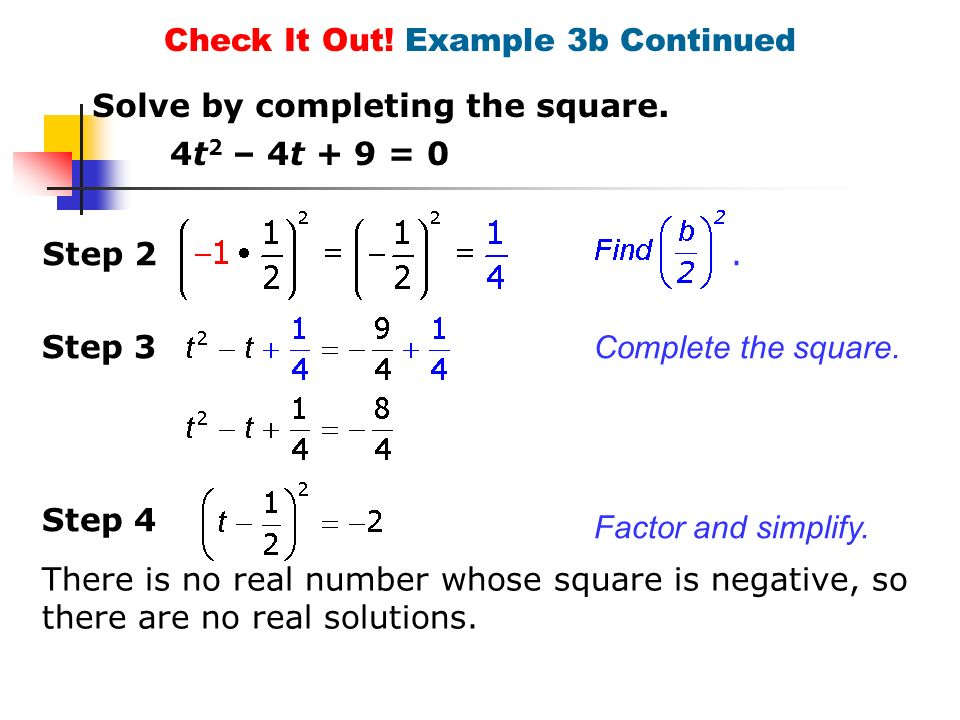 Solve quadratic equations by completing the square ppt download 30 check ccuart Choice Image