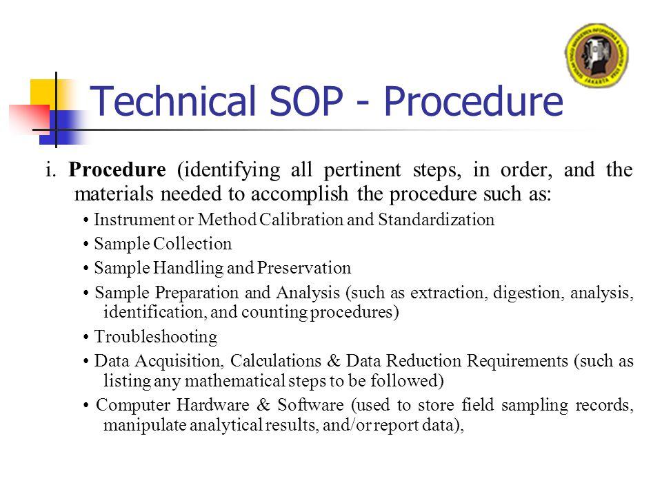 Genial Technical SOP   Procedure