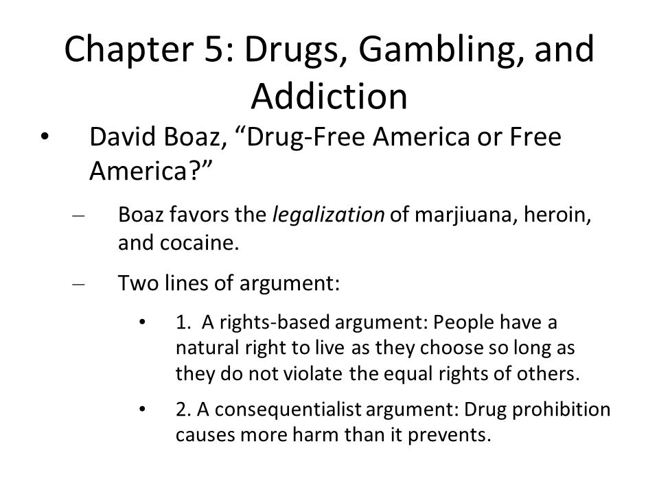 The pros and cons of drug legalization in the U.S.