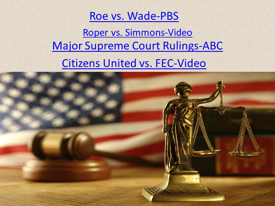Landmark Supreme Court Cases - ppt download
