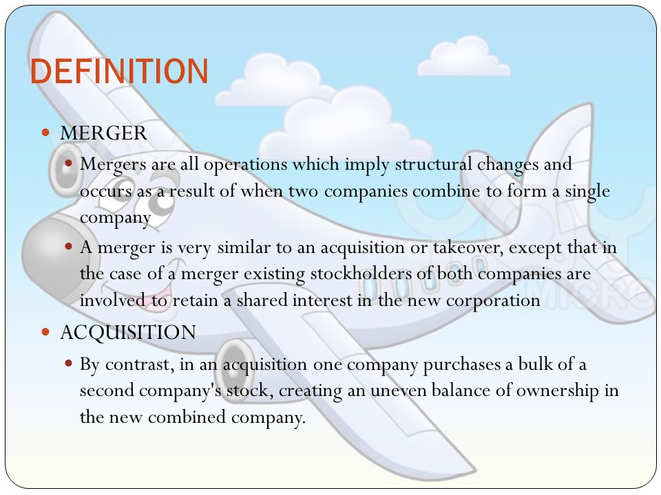 definition of mergers and acquisitions Mergers and acquisitions (m&a) are transactions in which the ownership of  companies, other  look up merger in wiktionary, the free dictionary.