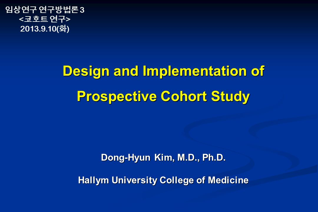 Cohort Study.ppt PowerPoint Presentation PPT