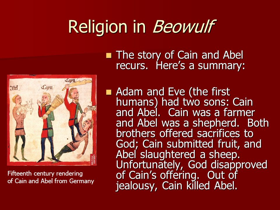 jealousy in cain abel Cain and abel main point:  just as god had warned, cain's pride, jealousy, and bitterness overtook him cain invited his brother to go out to a field.