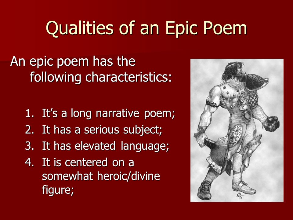 Qualities of an Epic Poem