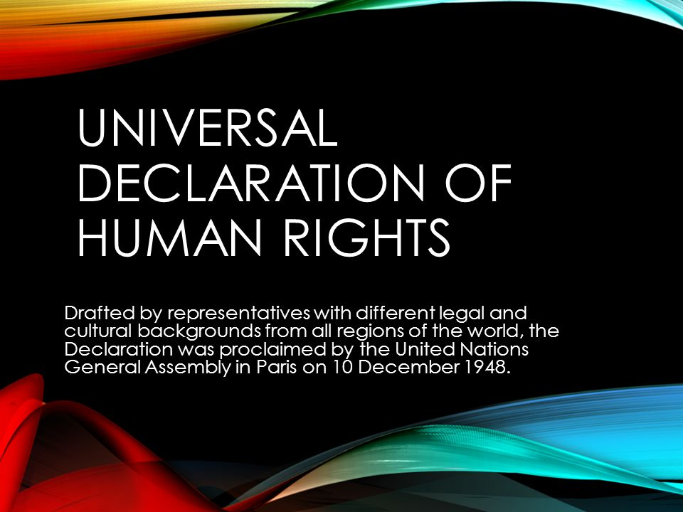 declaration of human rights The universal declaration of human rights (udhr) was adopted by the un in 1948 as a response to the nazi holocaust and to set a standard by which the human.