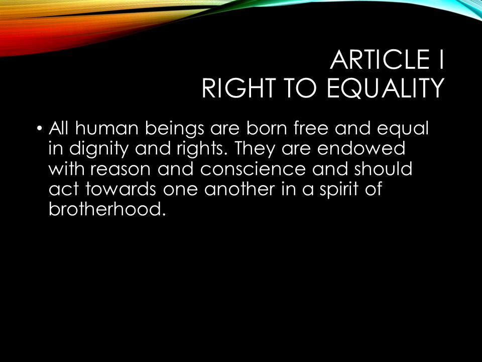 universal declaration of human rights ppt video online