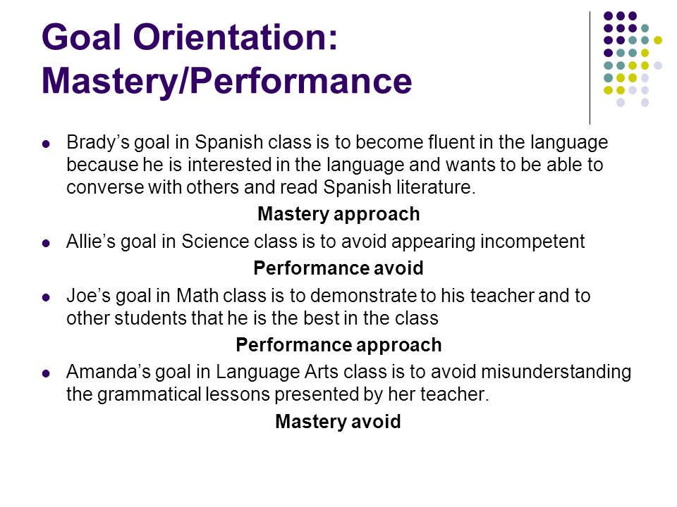 Misunderstanding Science >> Goal Orientation Theory - ppt video online download