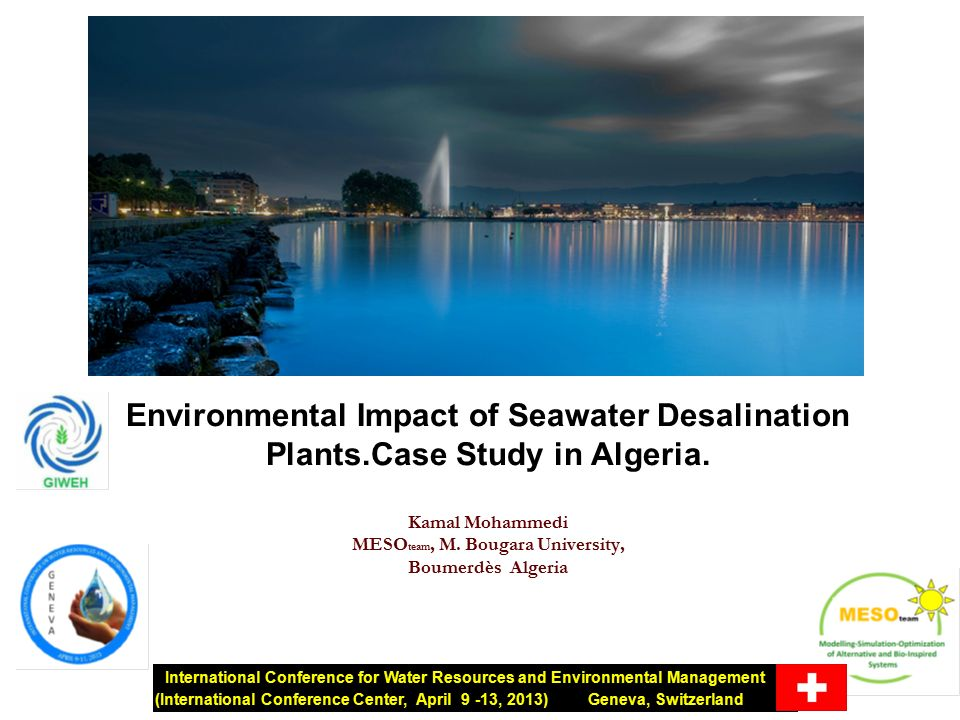 a study on the environmental impact of desalination environmental impact report: table of contents  appendix e: biological  resources studies  marine biological considerations related to the reverse  osmosis desalination project at the encina power plant, carlsbad, ca marine.