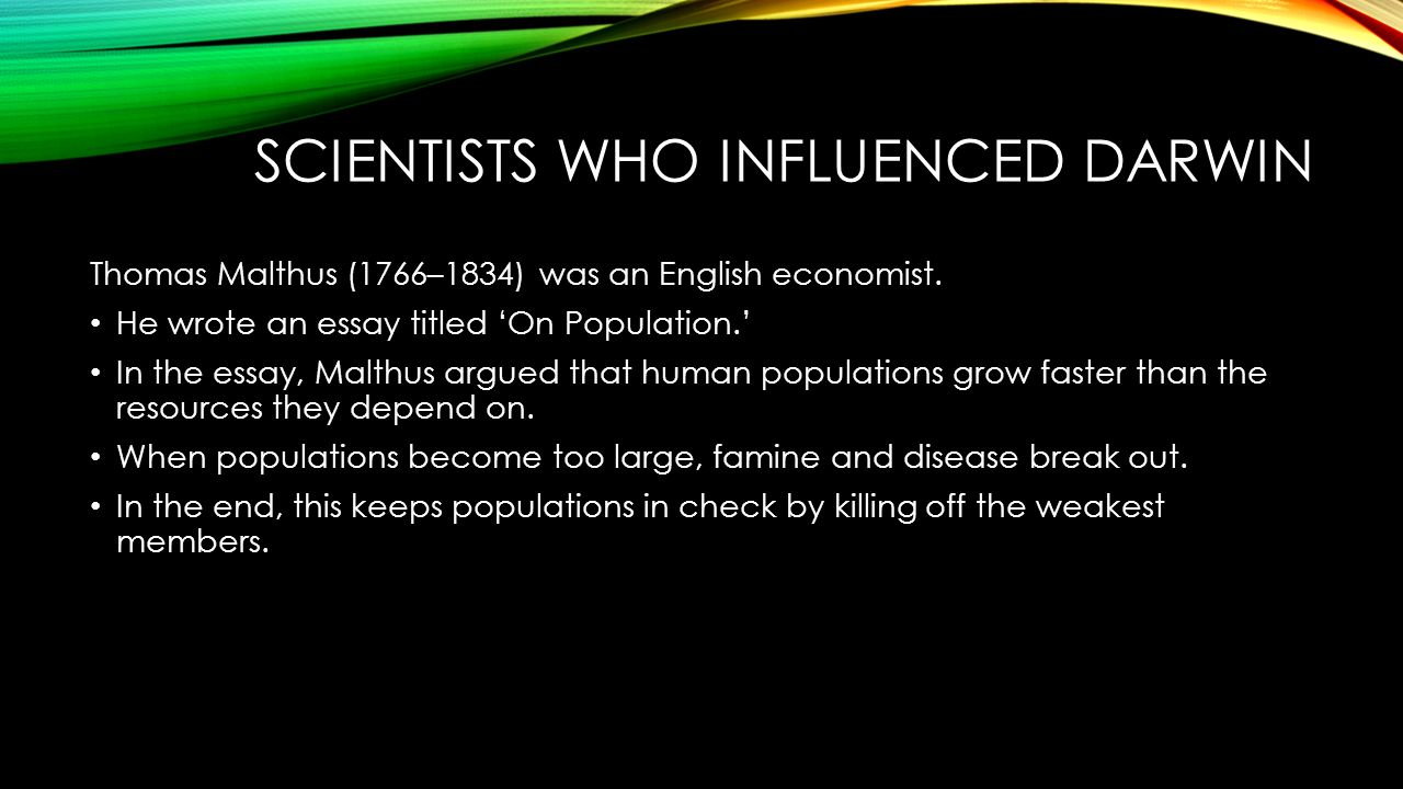 What idea did malthus introduce - 18 Scientists Who Influenced Darwin