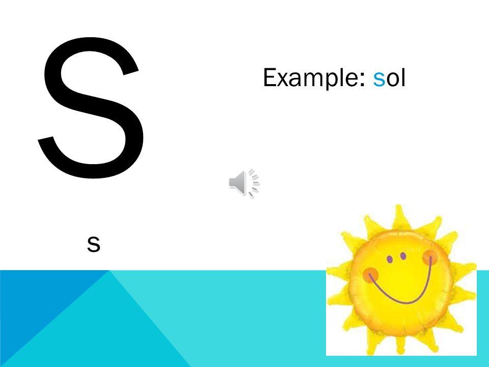 S s Example: sol