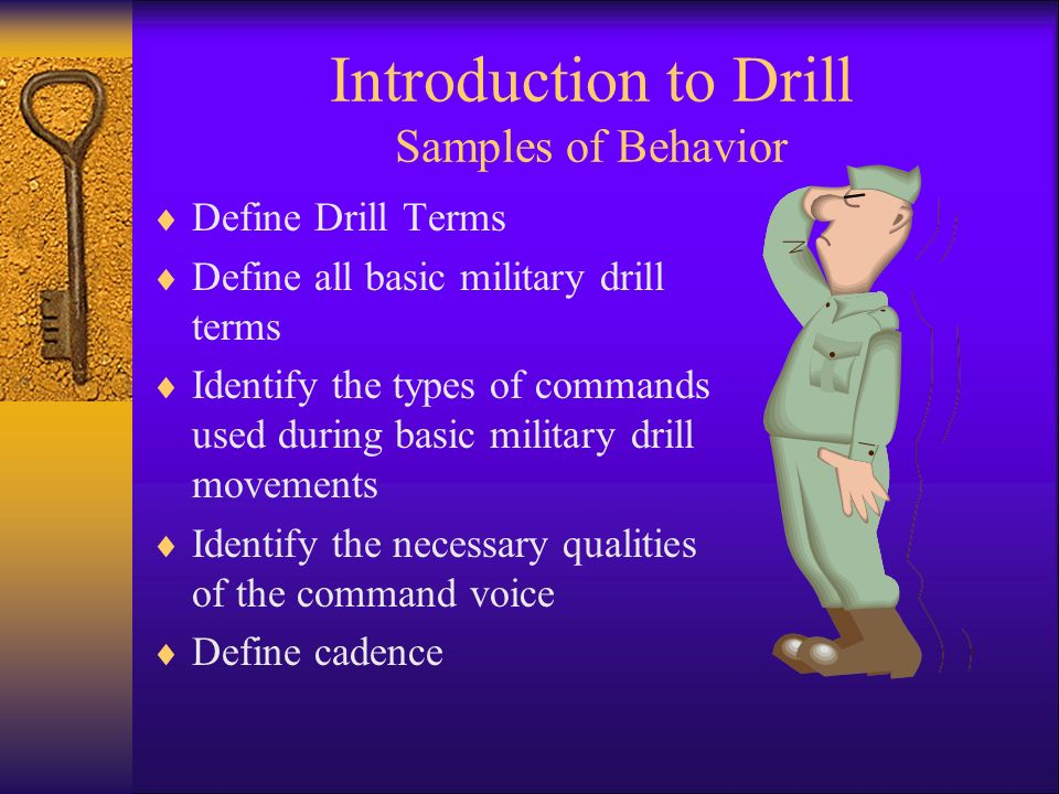 Introduction to Drill Samples of Behavior