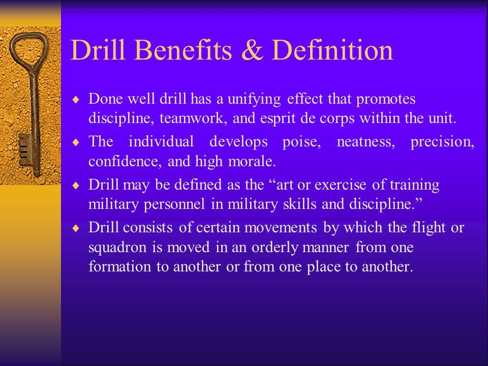 Drill Benefits & Definition