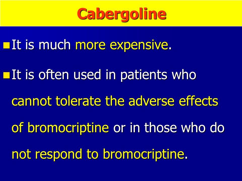 Bromocriptine side effects