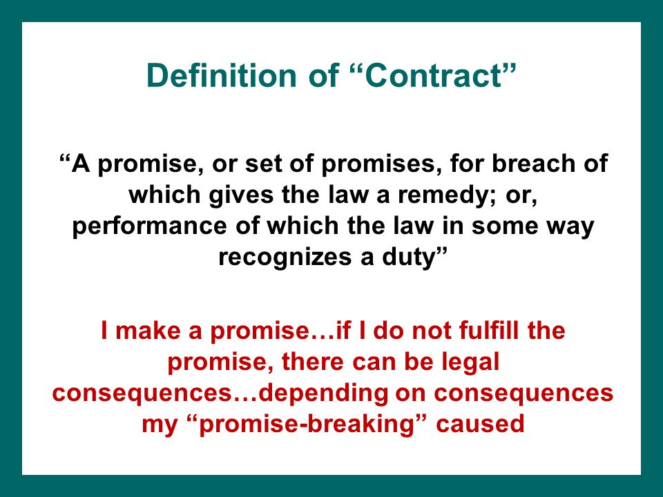 a definition of contract in business law The following are different modes of discharge or termination of contract  please update more about business law   contract definition.