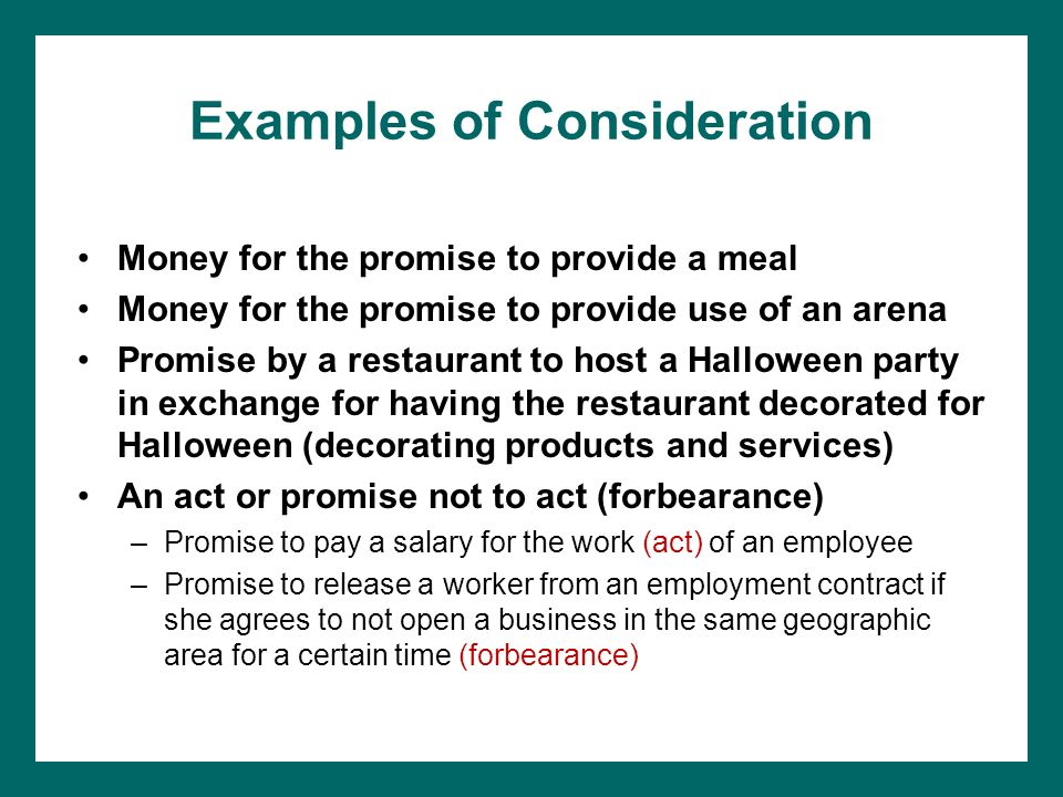 Chapter 5 contract law ppt download examples of consideration thecheapjerseys Choice Image