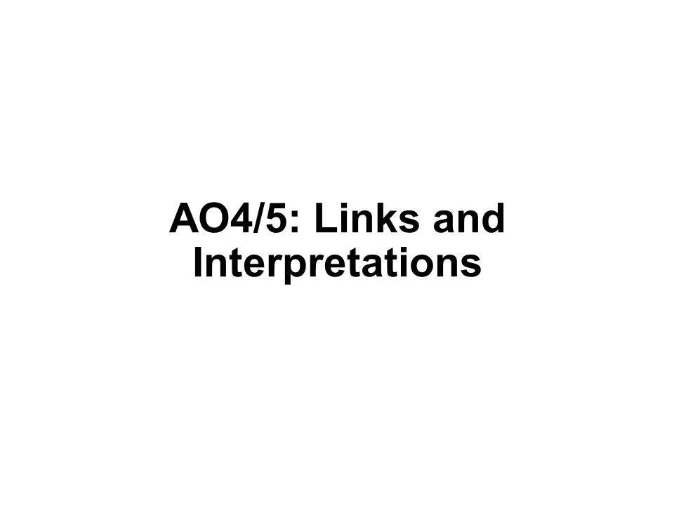 AO4/5: Links and Interpretations