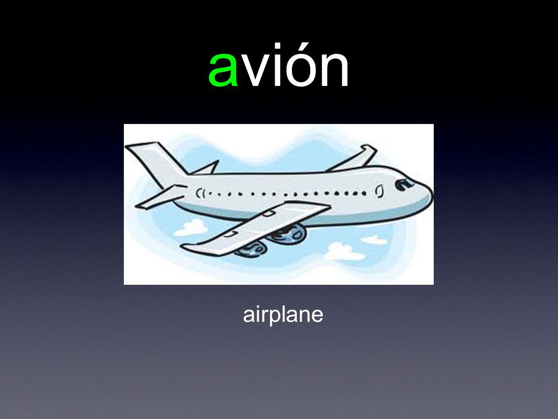 avión airplane