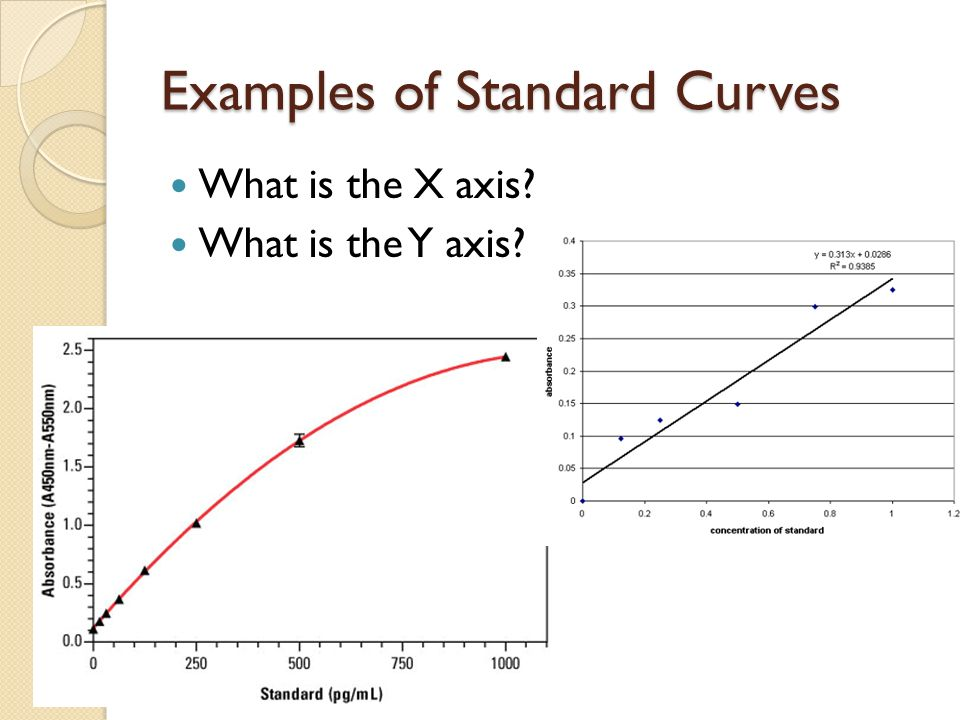 how to create a standard curve