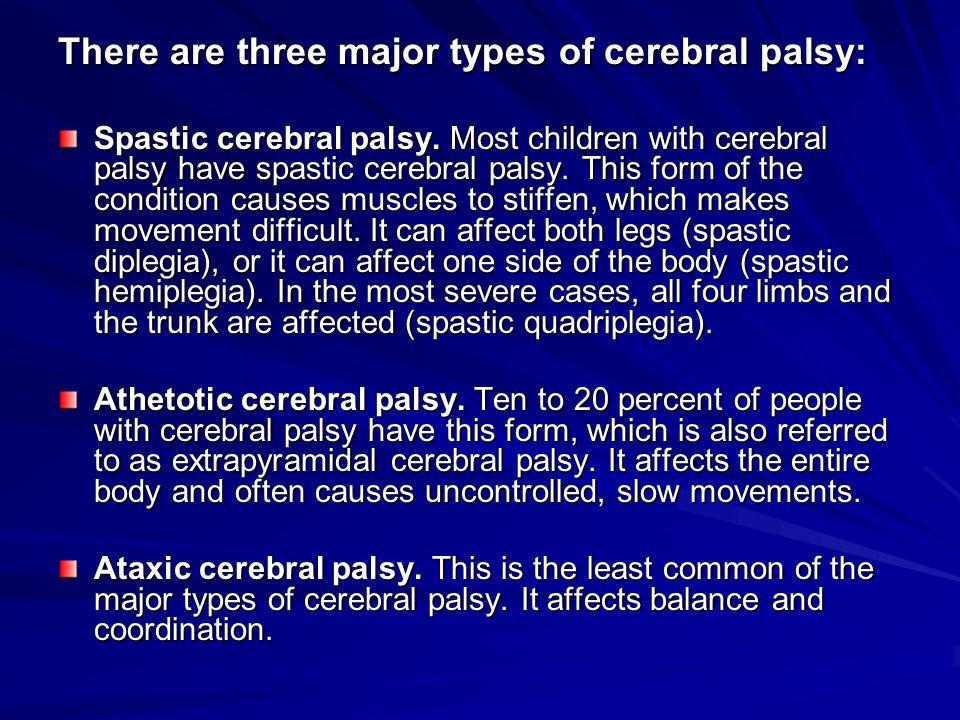 cerebral palsy essay Free essay: cerebral palsy is most commonly explained as brain paralysis according to abdel-hamid, zeldin, bazzano, ratanawongsa (2013), which translates.