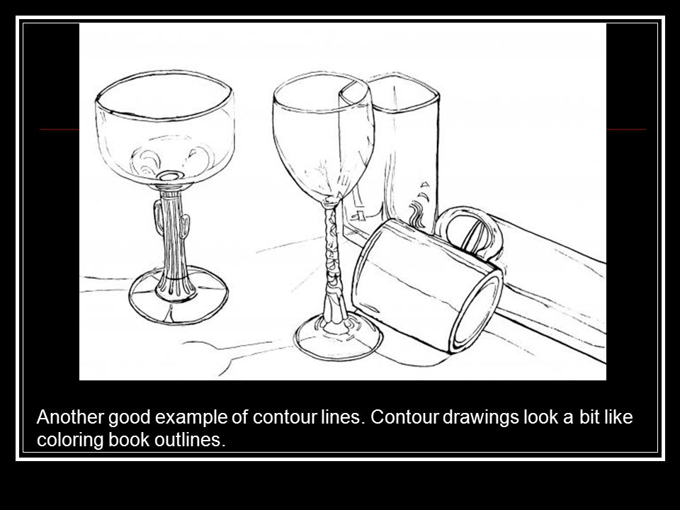 """Contour Line Drawing Books : """"a line is a dot that went for walk paul klee ppt"""