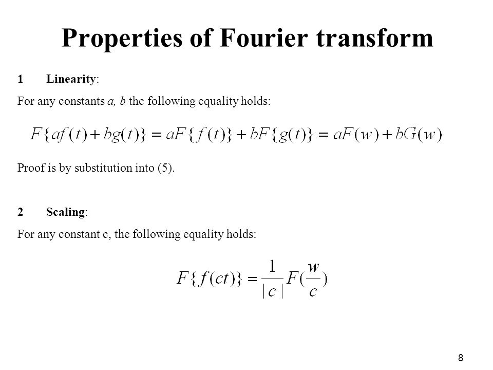 properties of fourier transform with proof pdf