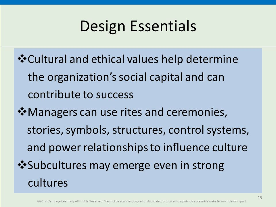 relationship between values ethics and organizational culture