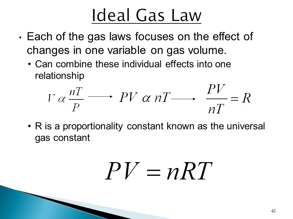 evaluation of the gas law constant Gas laws one of the most the ideal gas law where n is the number of moles of the number of moles and r is a constant called the universal gas constant and is.