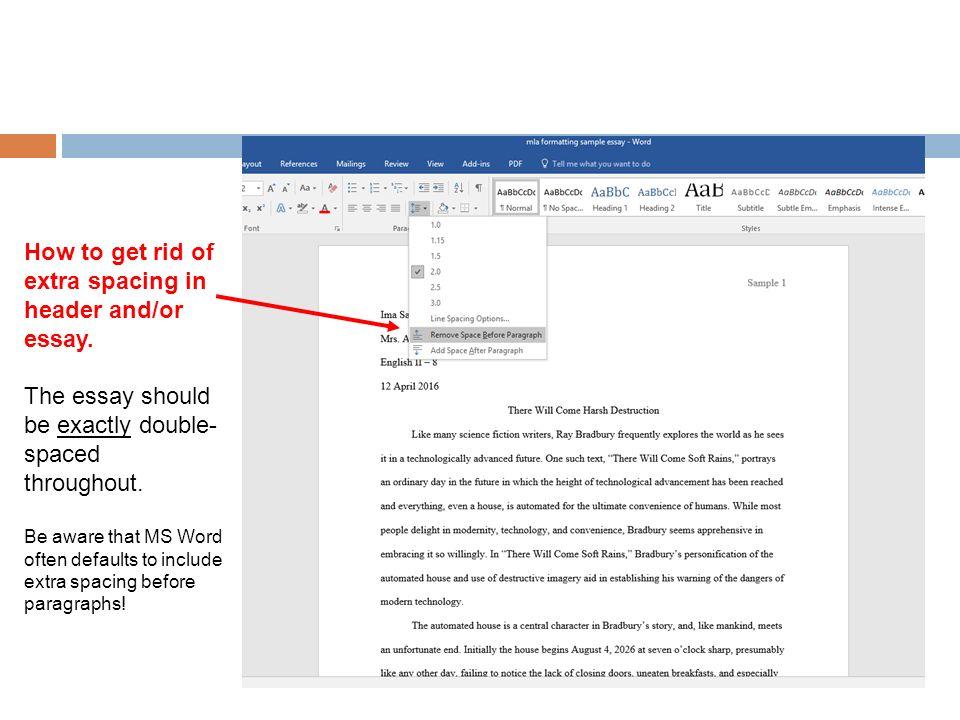 Essay paragraph spacing