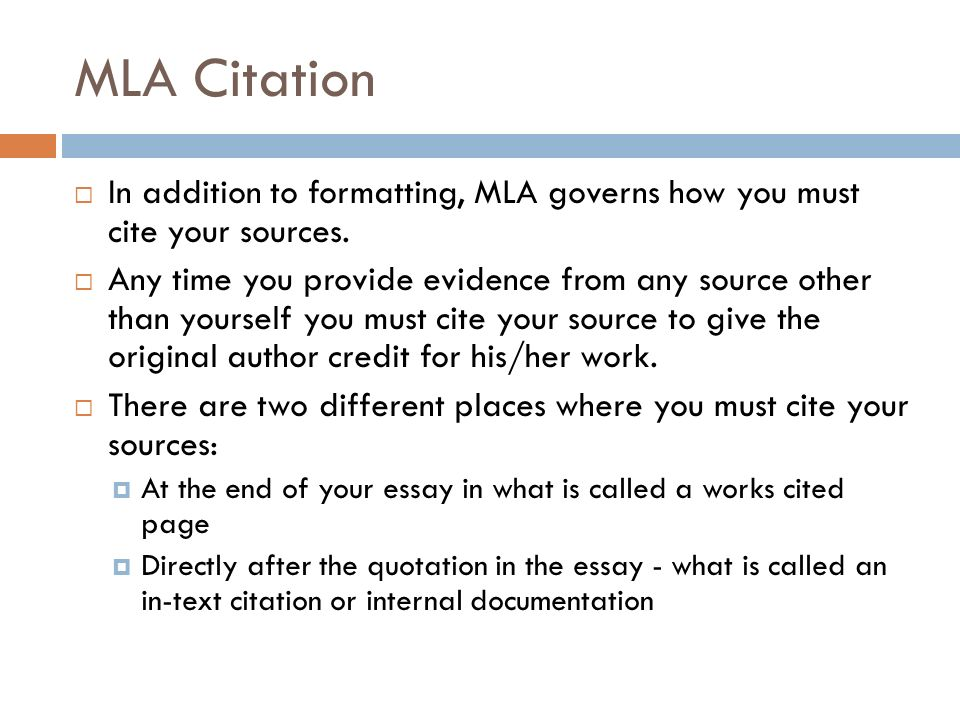 What is the MLA Format?