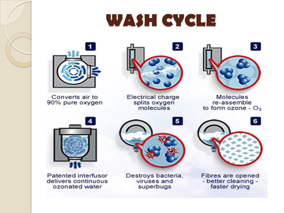 washing machine with wash cycles