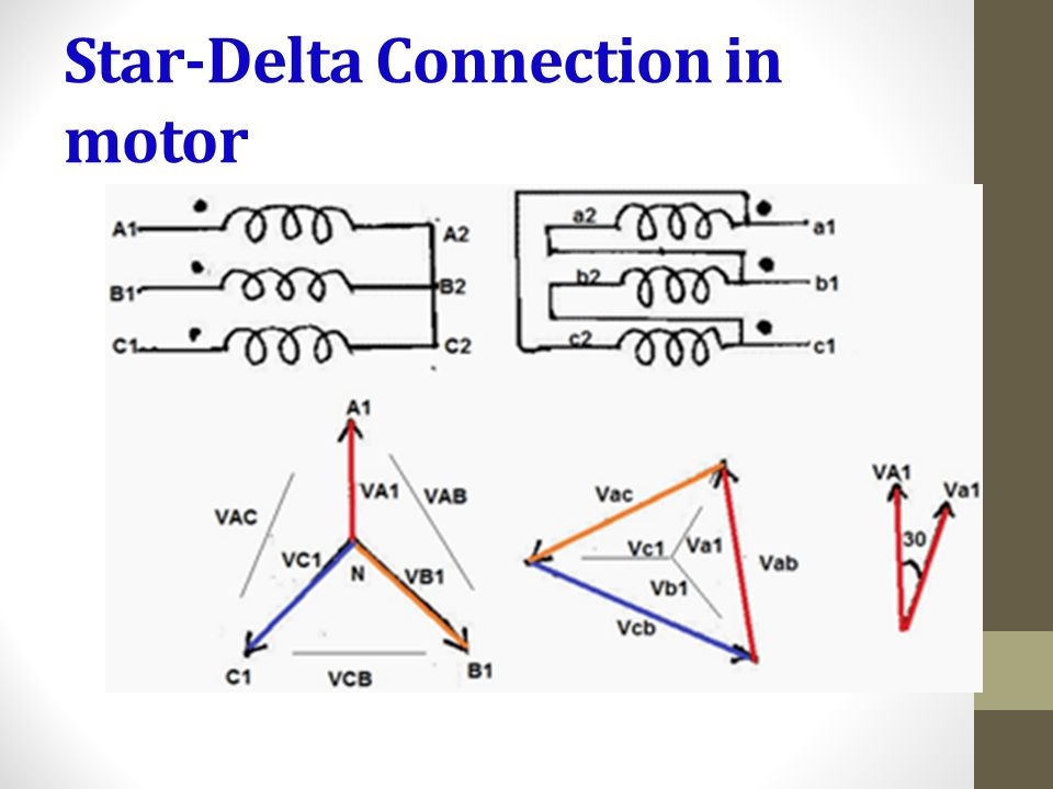 Star And Delta Connection Of Motor