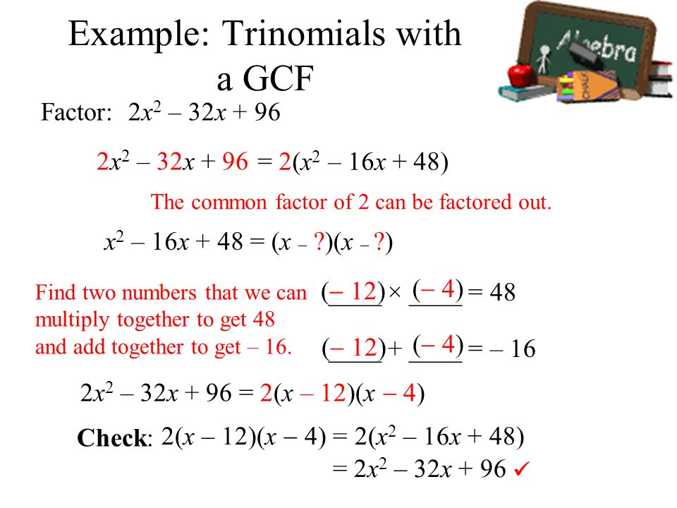 how to find gcf of two numbers example