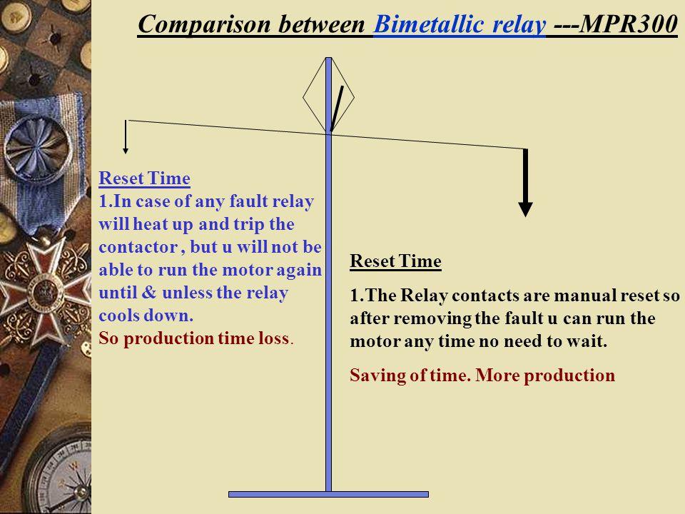 Comparison between MPR300 Bimetal relays ppt download