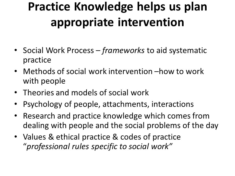 understanding of working practices and Practice guidelines and procedures relating to the structured  have a thorough understanding  practice paper working with children and young people work, .