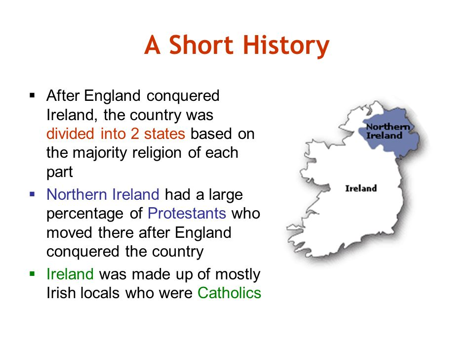 england and northern ireland history The long history of relationship between england and ireland has been defining, contradictory and at times obsessive the irish parliament passed the republic of ireland act and thus ireland, having lost northern ireland, became a sovereign state.