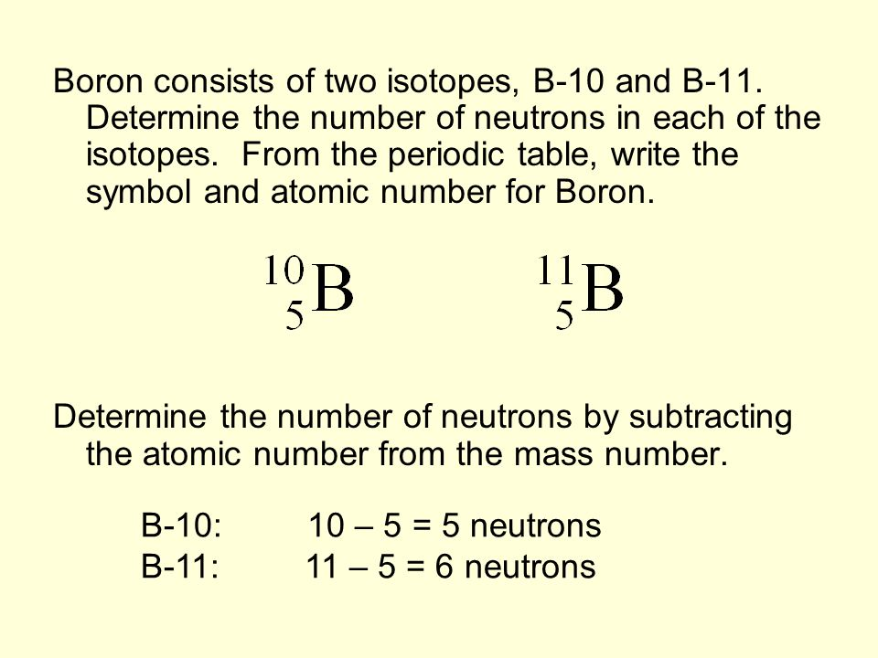 Essential question how do atoms of the same element differ ppt 7 boron urtaz Gallery